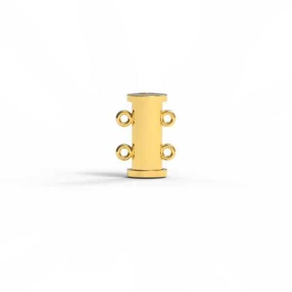 Magnet Röhre JKA Silber 925 3my vergoldet