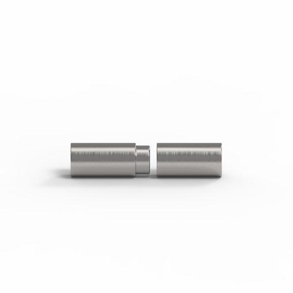 Magnet Zylinder Edelstahl handgebürstet