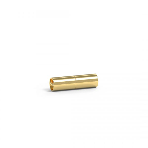 Magnet Zylinder close 14kt Gelbgold