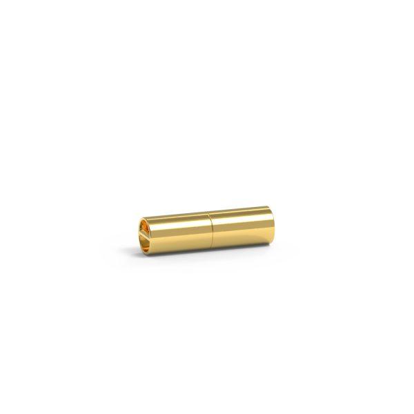 Magnet Zylinder close 18kt Gelbgold