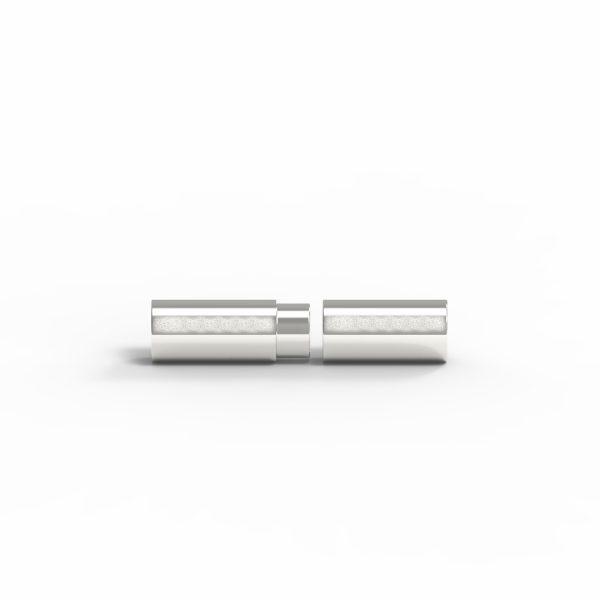 Magnet Zylinder Klebeschaft Silber 925 natur