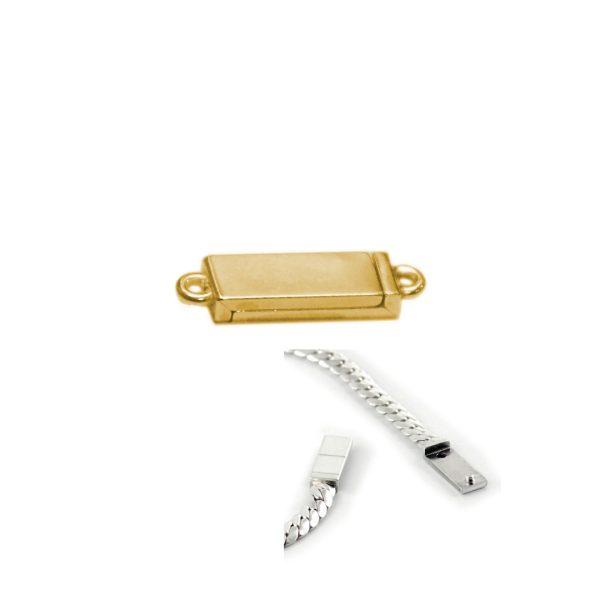 Magnet Kasten Silber 925 3my vergoldet