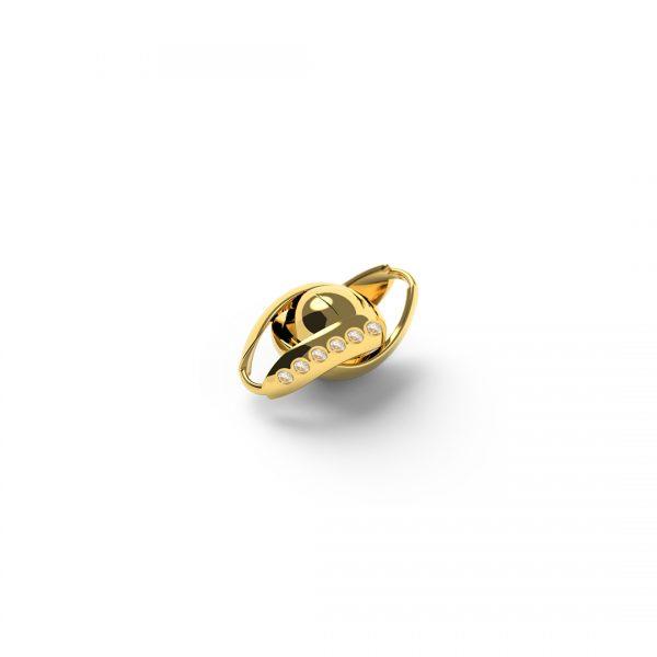 Magnet Kugel Infinity 14kt Gelbgold