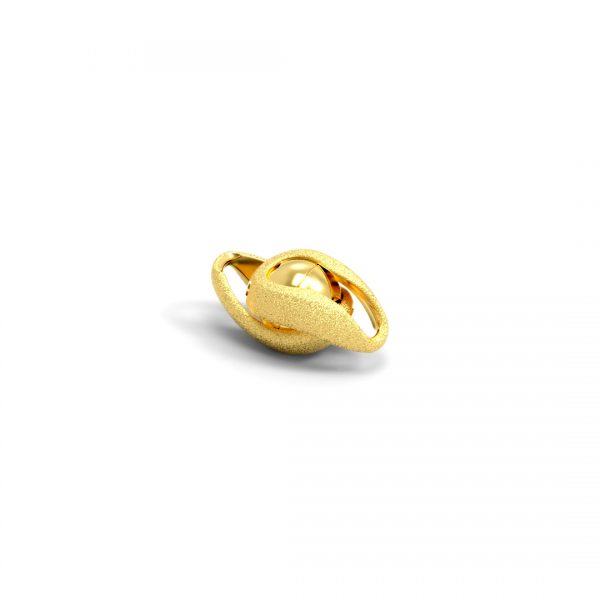 Magnet Kugel Infinity Silber 925 3my vergoldet