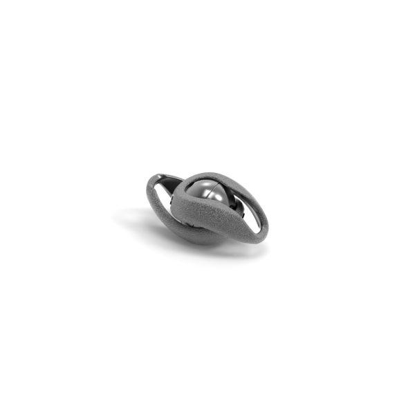 Magnet Kugel Infinity Silber 925 schwarz rhod.