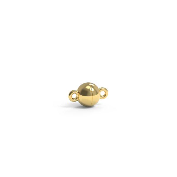 Magnet Kugel plus 14kt Gelbgold