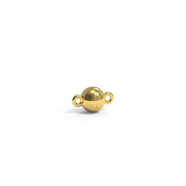 Magnet Kugel plus 18kt Gelbgold