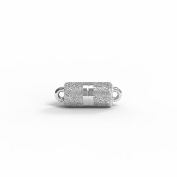 Magnet Zylinder classic Silber 925 rhodiniert