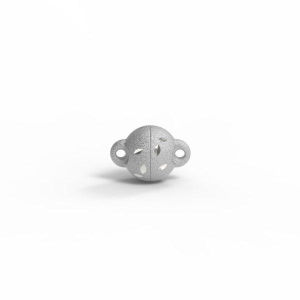 Magnet Kugel power DiamCut Silber 999 rhodiniert