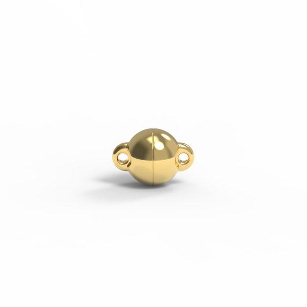 Magnet Kugel power Silber 999 3my vergoldet