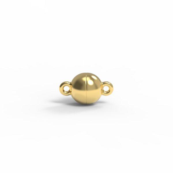 Magnet Kugel classic Silber 925 5my vergoldet