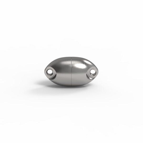 Magnet Olive Edelstahl handgebürstet
