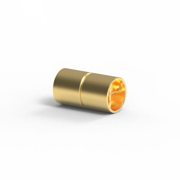 Magnet Zylinder Netz 14kt Gelbgold