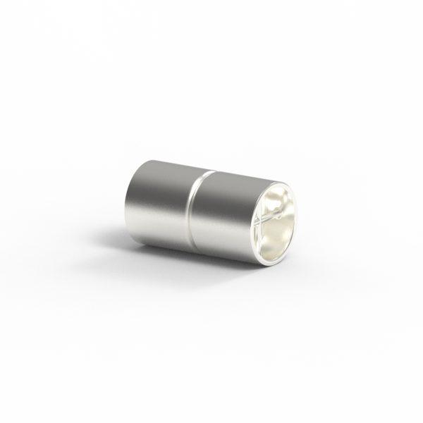 Magnet Zylinder Netz Silber 925 feinversilbert