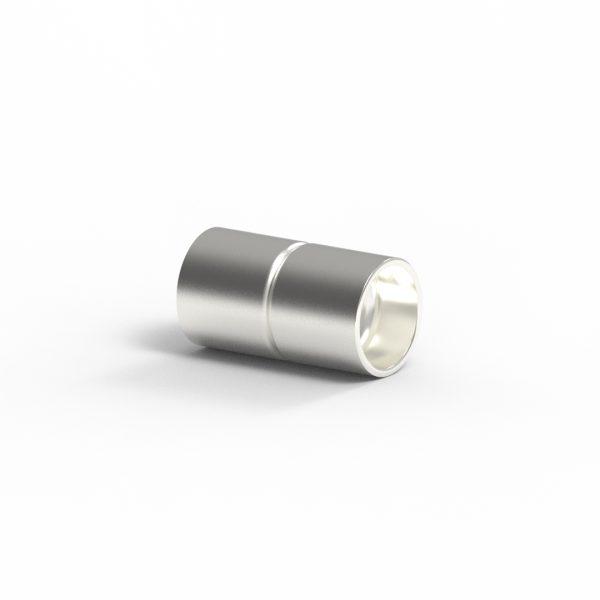 Magnet Zylinder Klebeschaft Silber 925 feinversilbert
