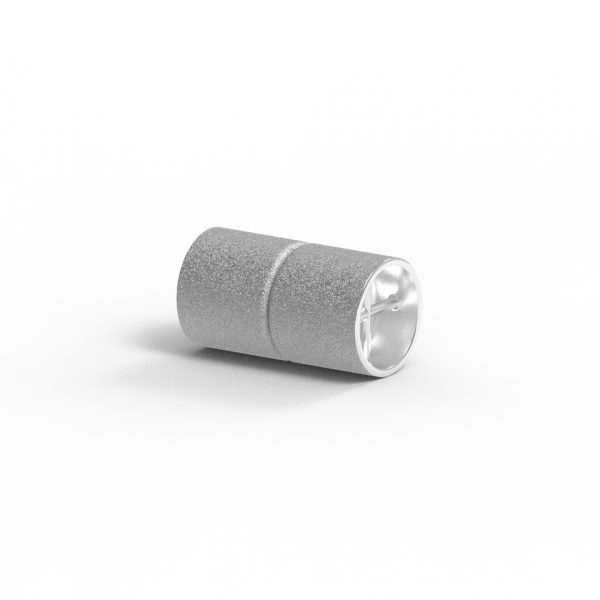Magnet Zylinder Netz Silber 925 rhodiniert
