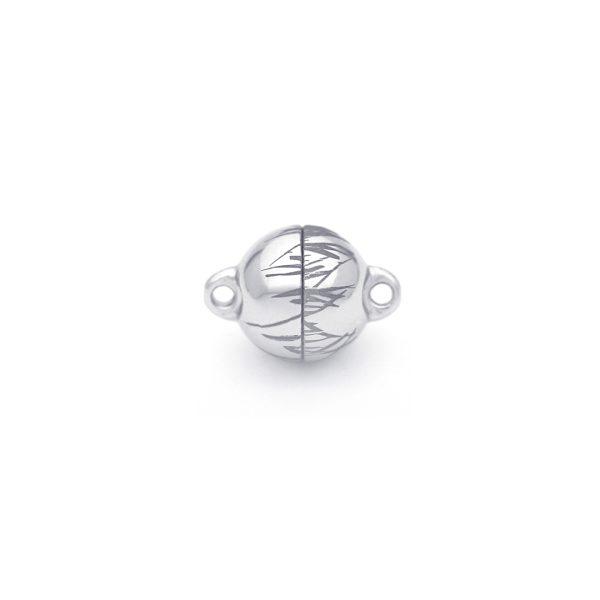 Magnet Kugel power Nature Silber 999 rhodiniert