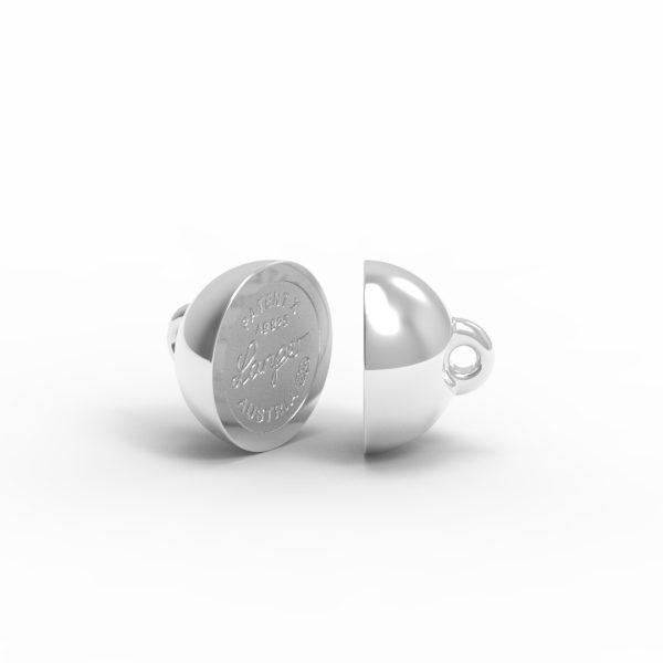 Magnet Kugel PatentX Silber 999 rhodiniert