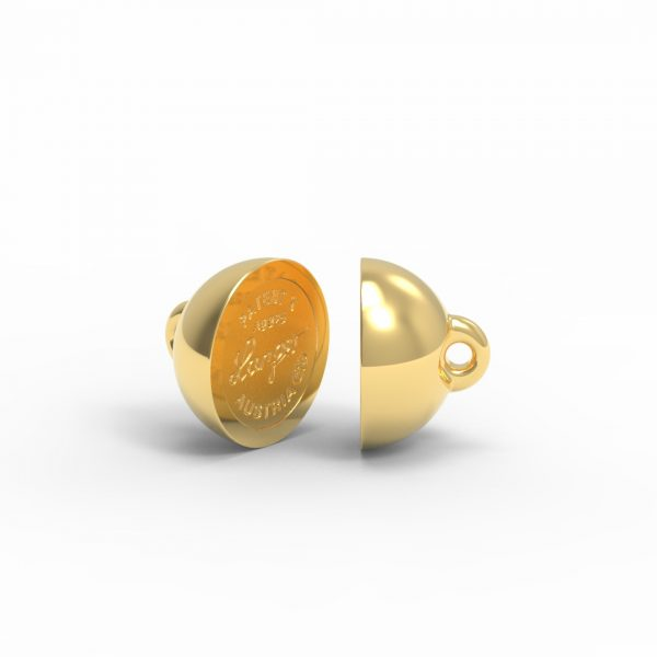 Magnet Kugel PatentX Silber 999 3my vergoldet