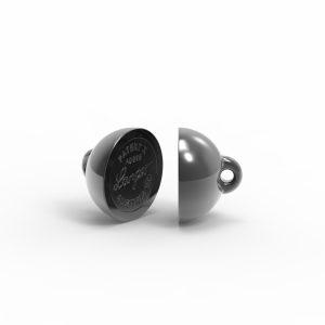 Magnet Kugel PatentX Silber 999 schwarz rhod.