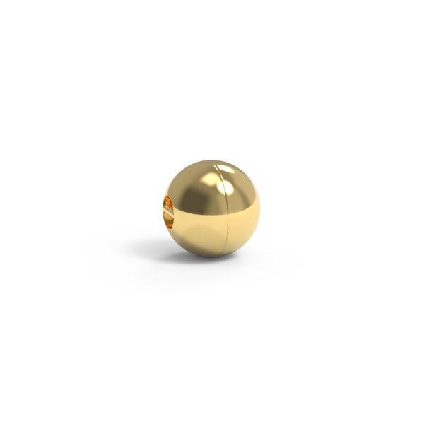 Magnet Kugel close 14kt Gelbgold