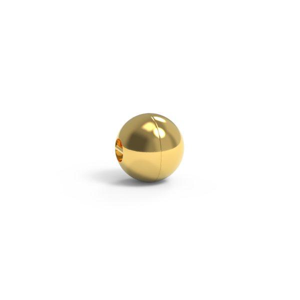 Magnet Kugel close 18kt Gelbgold