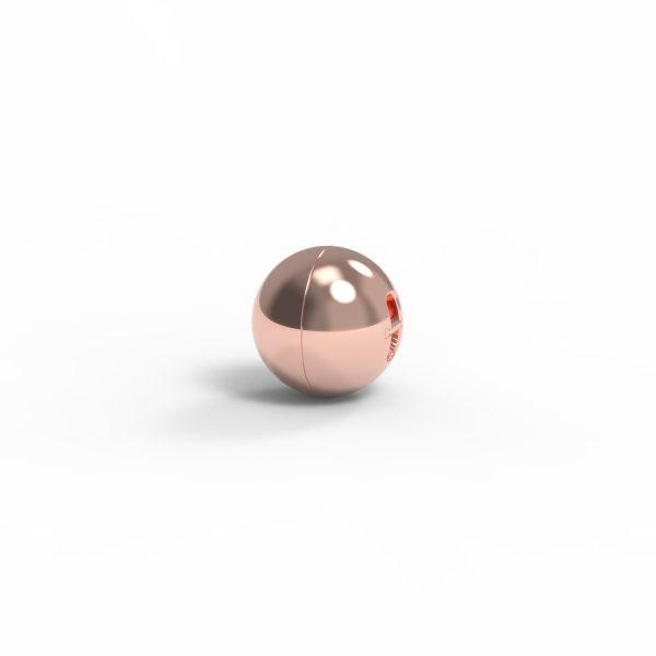 Magnet Kugel close Silber 999 rosé vg.