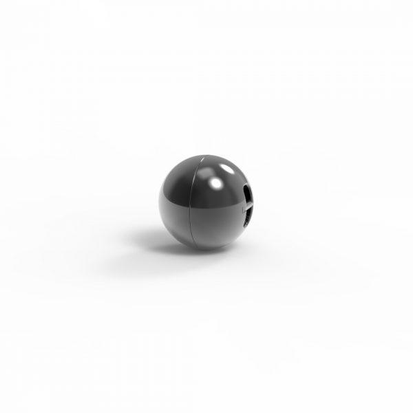 Magnet Kugel close Silber 999 Rugadec