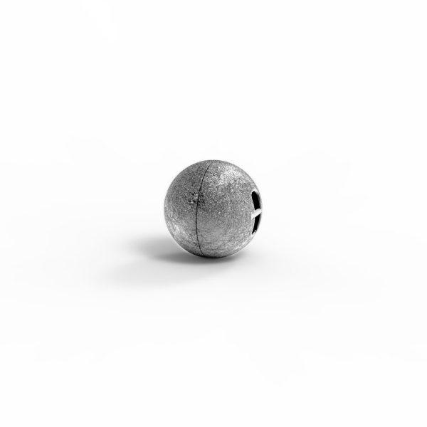 Magnet Kugel close Silber 999 Antik