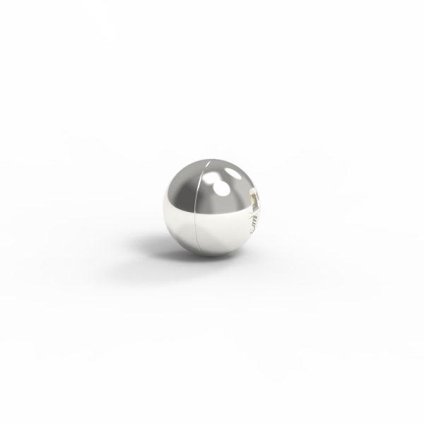 Magnet Kugel close Silber 999 feinversilbert