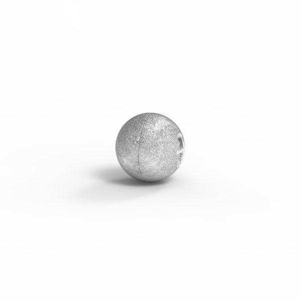 Magnet Kugel close Silber 999 rhodiniert