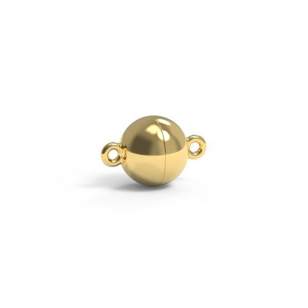 Magnet Kugel plus 14kt Gelbgold (10KpG4pC)