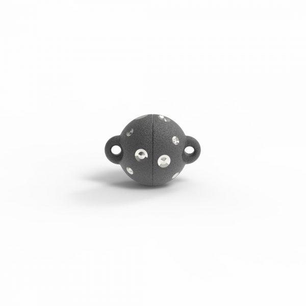 Magnet Kugel power DiamP Sterne Silber 999 Rugadec