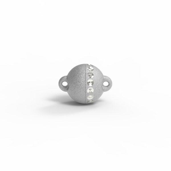 Magnet Kugel power DiamP Reihe Silber 999 rhodiniert
