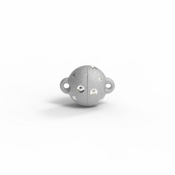 Magnet Kugel power DiamP Sterne Silber 999 rhodiniert