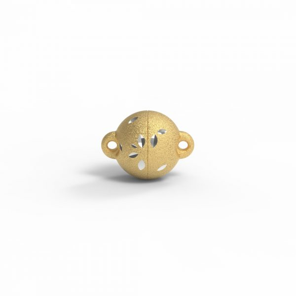 Magnet Kugel power DiamCut Silber 999 3my vergoldet