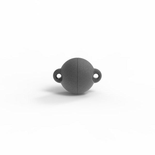 Magnet Kugel power Silber 999 schwarz rhod.