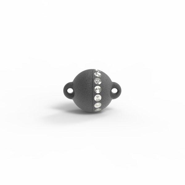 Magnet Kugel power DiamP Reihe Silber 999 schwarz rhod.