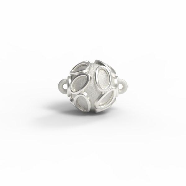 """Magnet Kugel Applikation """"Teardrop"""" Silber 925 feinversilbert"""