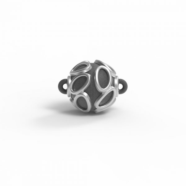 """Magnet Kugel Applikation """"Teardrop"""" Silber 925 Rugadec"""