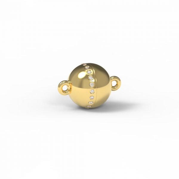 Magnet Kugel classic Diamant Reihe 18kt Gelbgold