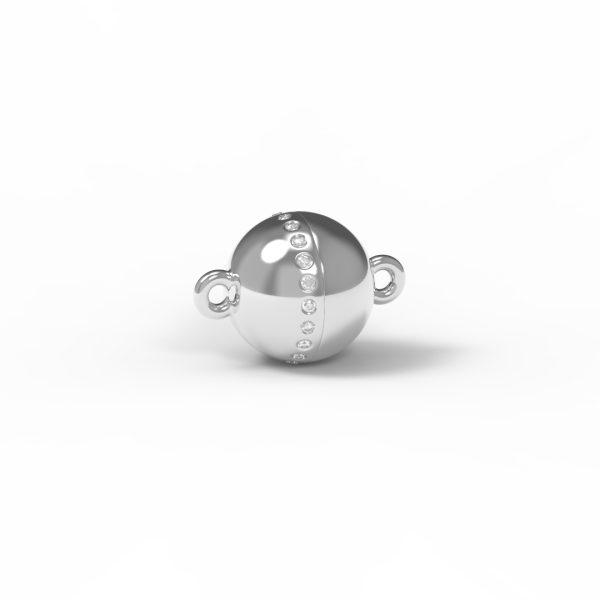 Magnet Kugel classic Diamant Reihe 18kt Weißgold rhodiniert
