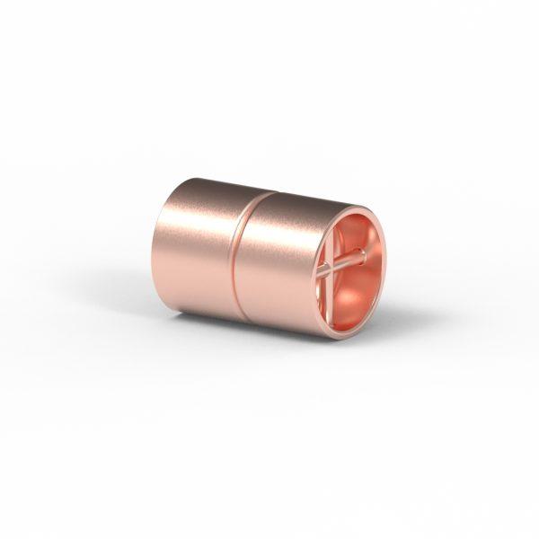 Magnet Zylinder Netz Silber 925 rosé vg.
