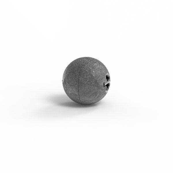 Magnet Kugel close Silber 999 schwarz rhod.