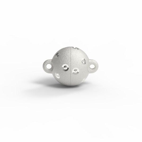 Magnet Kugel power DiamP Sterne Silber 999 feinversilbert