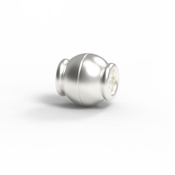 Magnet Kugel Netz Silber 925 feinversilbert