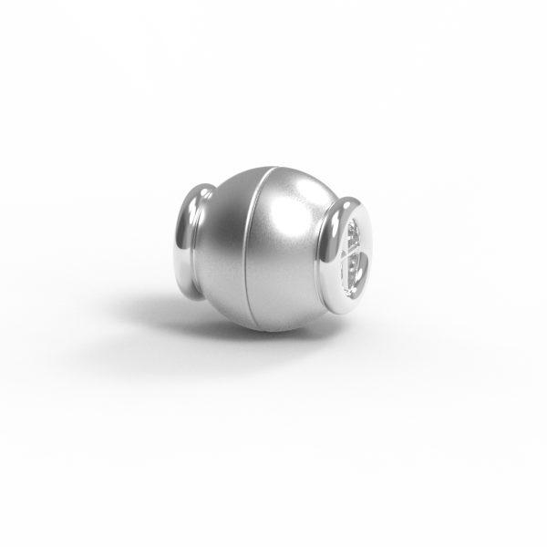 Magnet Kugel Netz Silber 925 rhodiniert