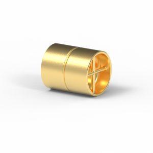 Magnet Zylinder Netz Silber 925 5my vergoldet