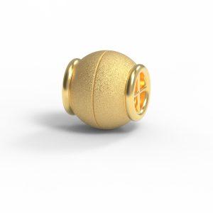 Magnet Kugel Netz 14kt Gelbgold