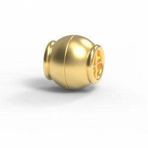 Magnet Kugel Netz 18kt Gelbgold